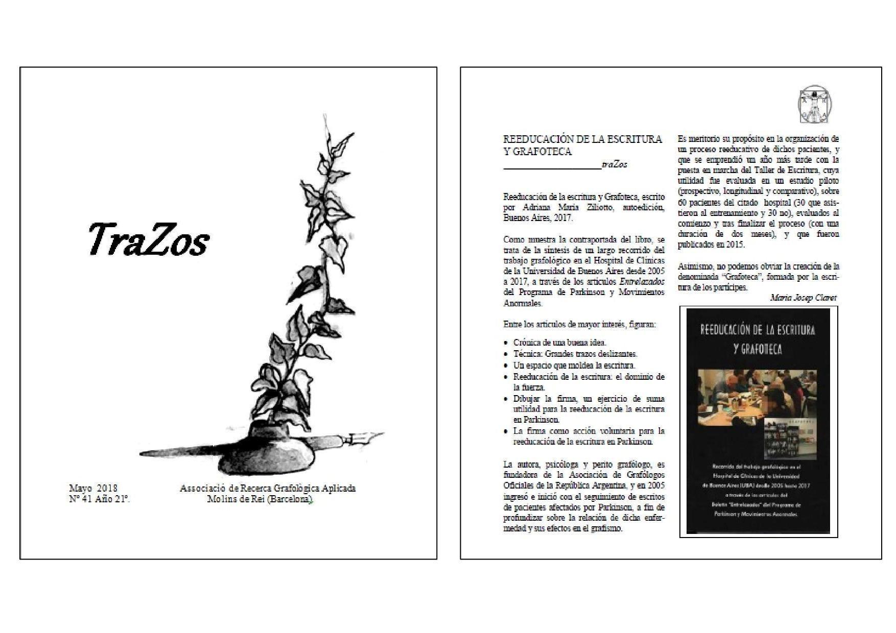"""""""Reeducación de la Escritura y Grafoteca"""" de Adriana Ziliotto"""