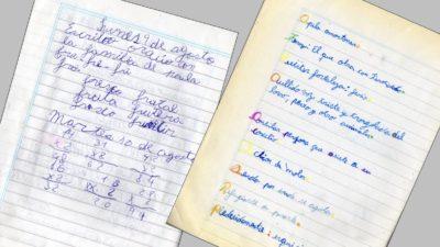 Cuaderno borrador y cuaderno de clase contra la disgrafía